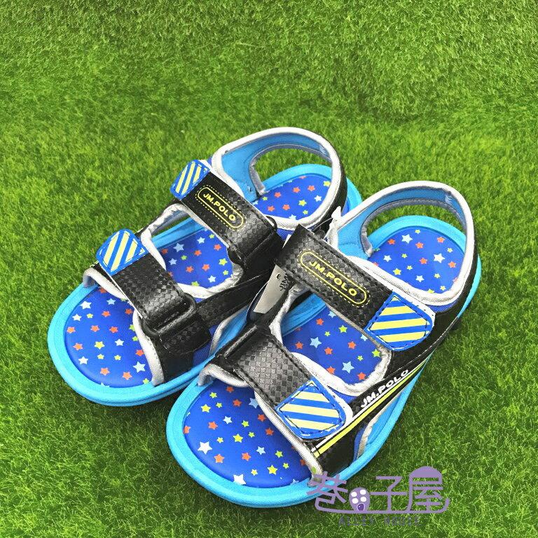 【巷子屋】童款星星底造型運動涼鞋 [18060] 黑 MIT台灣製造 超值價$198