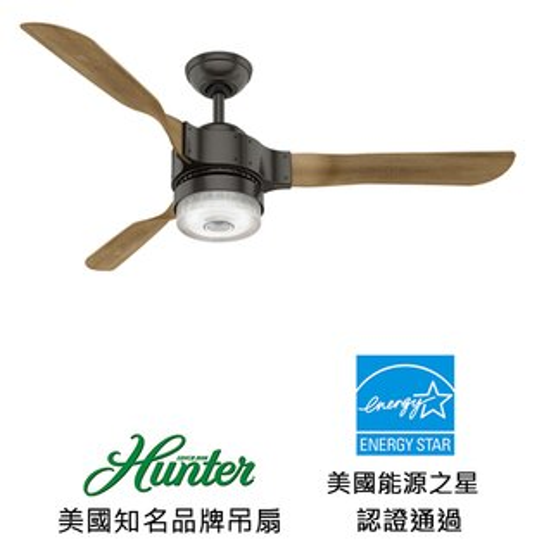 美國知名品牌吊扇專賣店:[topfan]HunterApache54英吋吊扇附LED燈(59226)精銅色