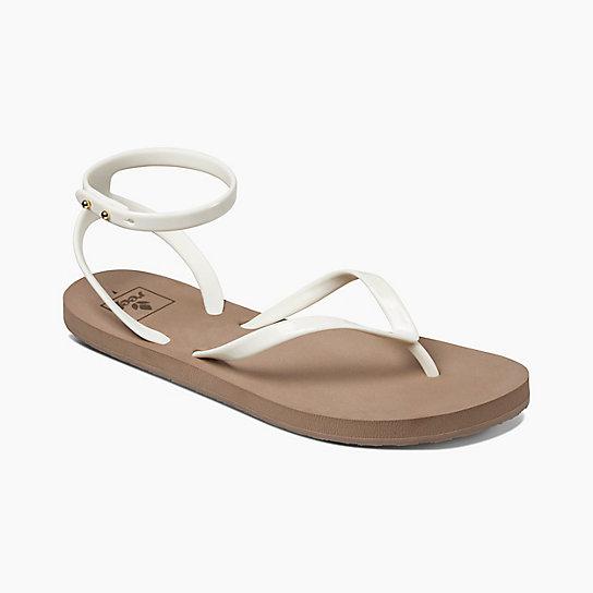 REEF 簡單好搭配金屬扣可調整 基本款女神涼鞋 . 灰褐 / 白 RF0A2YF7TGR - 限時優惠好康折扣