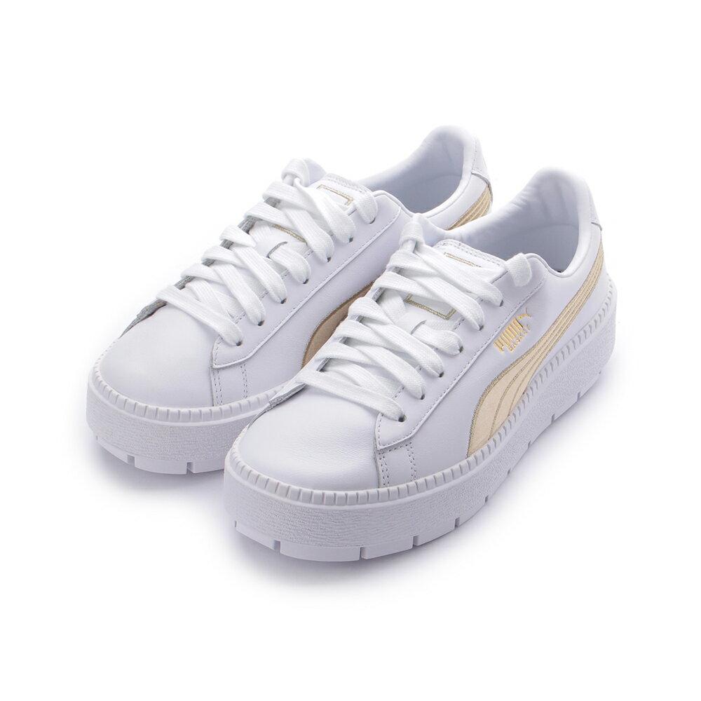 PUMA復古厚底鞋 白金