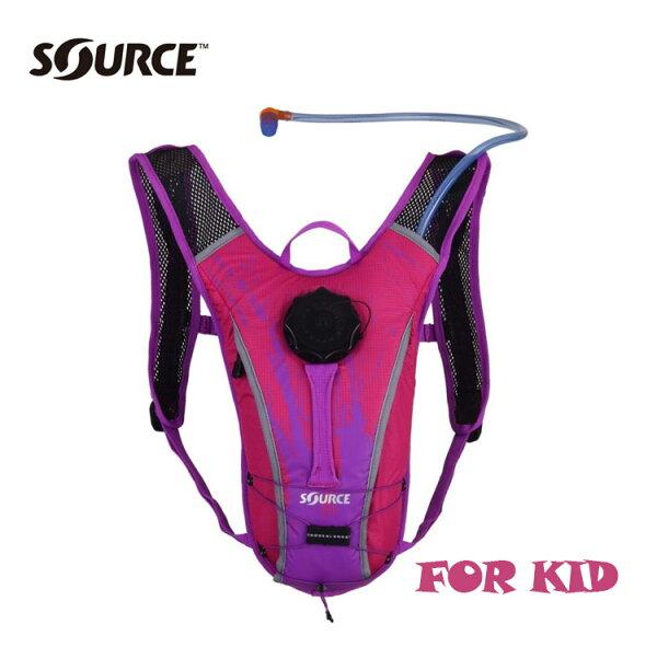 以色列SOURCE兒童自行車水袋背包SpinnerNC2050115915【粉紅紫】1.5L