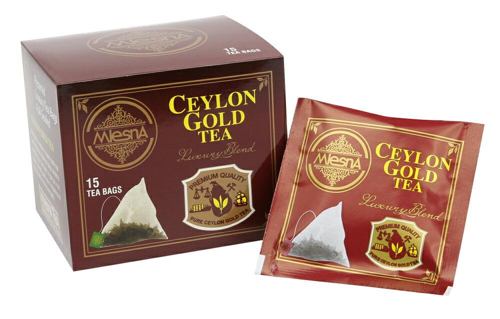 曼斯納 MlesnA - CEYLON GOLD 三角立體茶包 (15入/盒) 錫蘭紅茶/茶包/茶葉