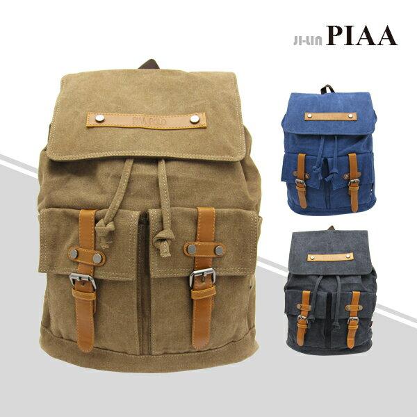83-8634《PIAA 皮亞》韓式磁扣束口雙肩後背包 (三色)