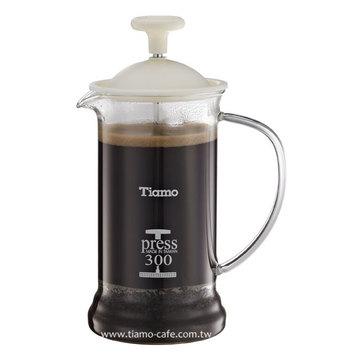 金時代書香咖啡  TIAMO 多功能法式玻璃濾壓壺 300cc SGS合格  HG2109W - 限時優惠好康折扣