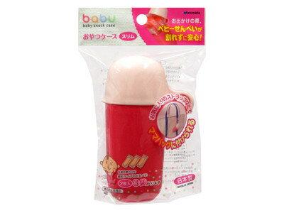 大賀屋 日本製 嬰兒 餅乾 收納盒 粉 INOMATA 攜帶式 置物盒 零食盒 婦幼 外出用品 J00013275