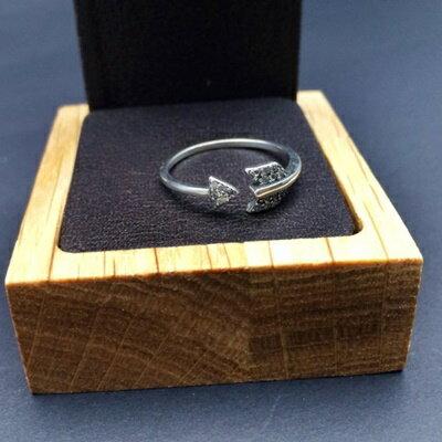 ~925純銀戒指鑲鑽銀飾~簡約 箭矢 生日情人節 女飾品73ic67~ ~~米蘭 ~