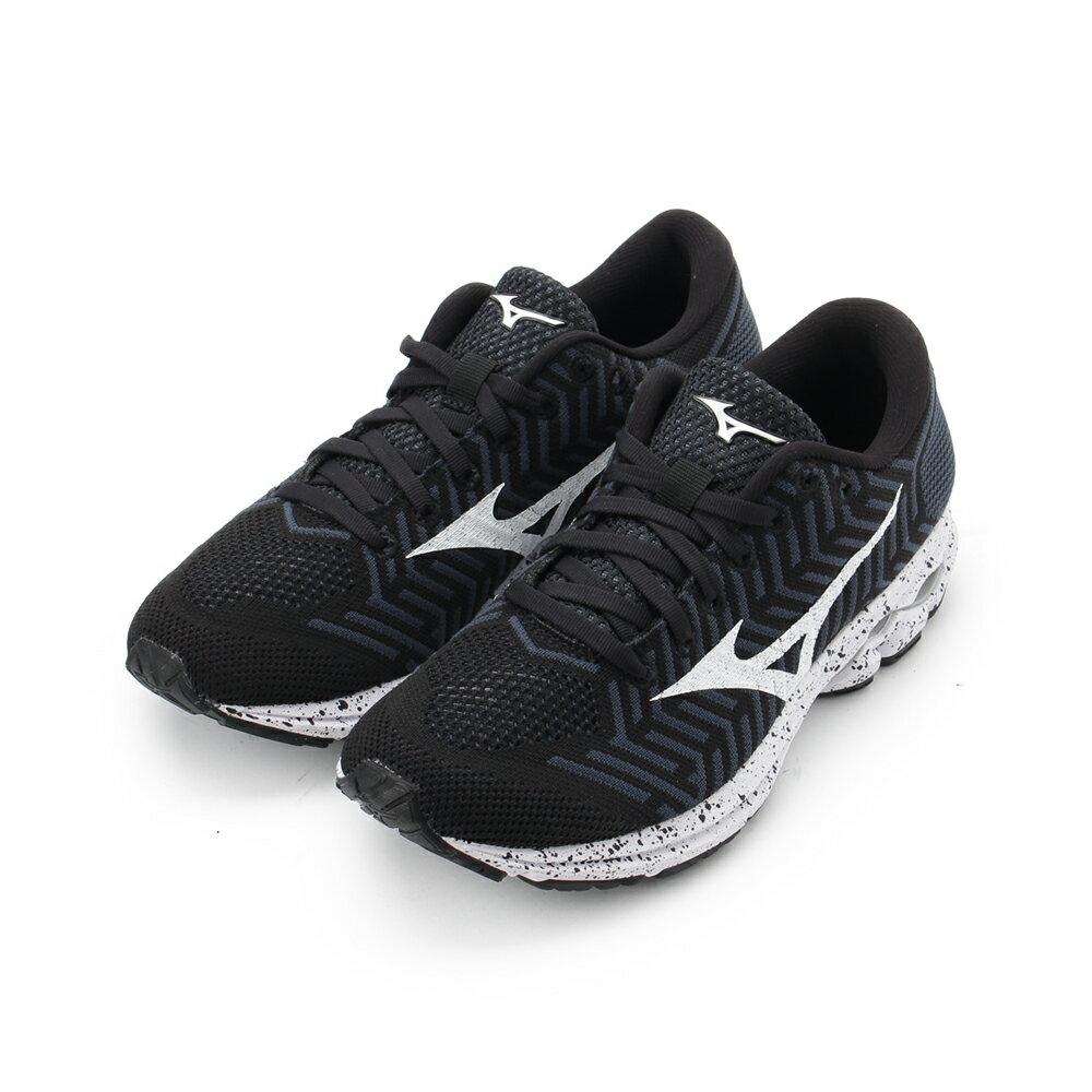 MIZUNO WAVEKNIT R2 慢跑鞋 黑白 J1GD182907 女鞋