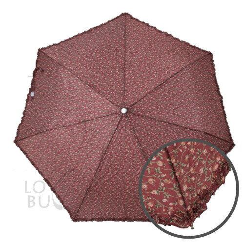 防風輕巧晴雨抗UV自動傘-紅碎花