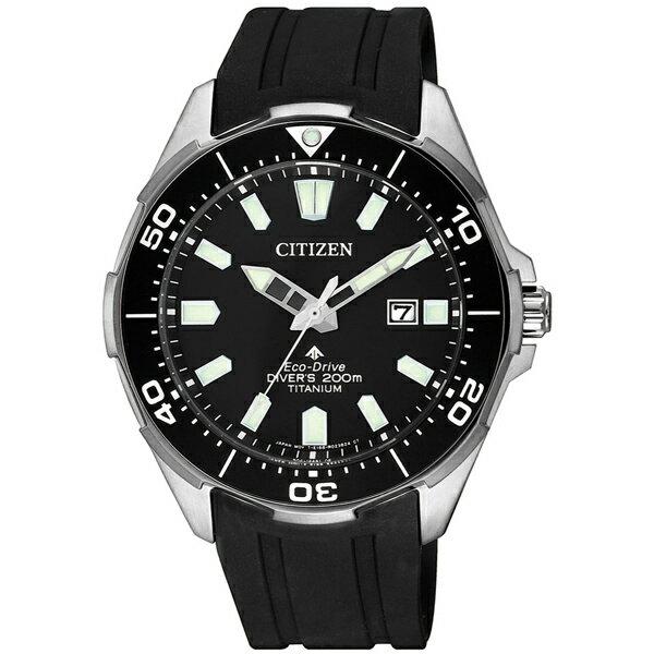 大高雄鐘錶城 CITIZEN 星辰錶 BN0200-13E PROMASTER 光動能鈦金屬冒險極致潛水腕表/ 黑面+黑 44mm