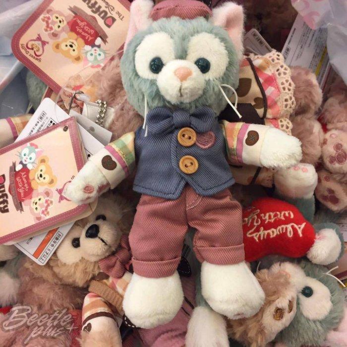 BEETLE PLUS 全新 現貨 DISNEY 迪士尼 DUFFY 2017情人節 樂園限定 畫家貓 鑰匙圈 站姿玩偶 吊飾 J-83