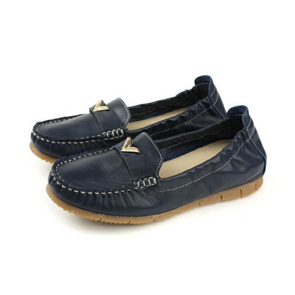 HUMANPEACE懶人鞋平底鞋休閒鞋深藍色女鞋151162no003