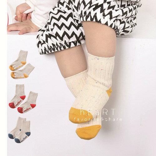 小花拉拉:點點紗羅紋拼色止滑短襪童襪止滑襪短襪