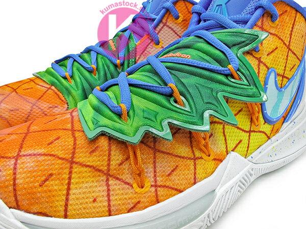 2019 Kyrie Irving 最新代言鞋款 卡通 SPONGEBOB 聯名 NIKE KYRIE 5 SBSP EP PINEAPPLE HOUSE 橘綠藍 鳳梨屋 前掌 ZOOM TURBO AIR 氣墊 (CJ6950-800) ! 3