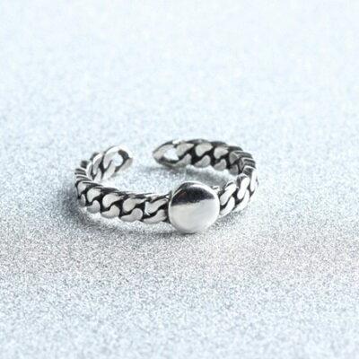 ~925純銀戒指麻花開口戒~復古 百搭精美情人節生日 女飾品73gp38~ ~~米蘭 ~