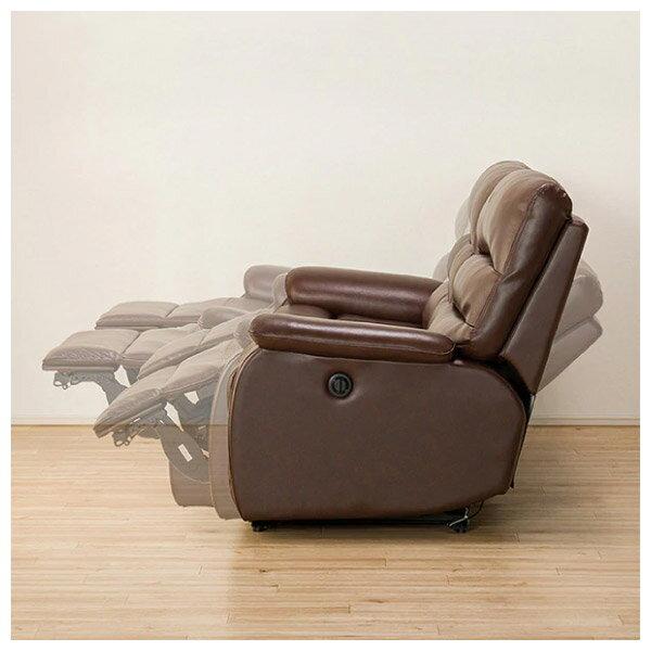 ◎(OUTLET)全皮3人用頂級電動可躺式沙發 BELIEVER ROYAL DBR 福利品 NITORI宜得利家居 2