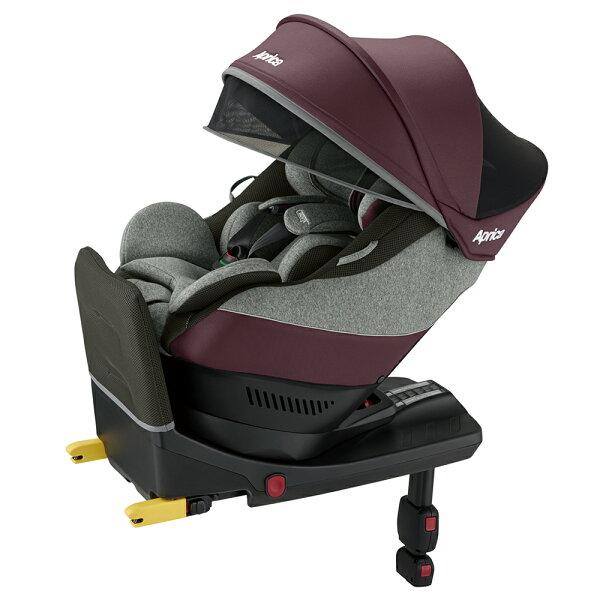 【麗嬰房】Aprica新型態迴轉式「座椅型」安全座椅Cururliaplus-勃根地玫瑰RD