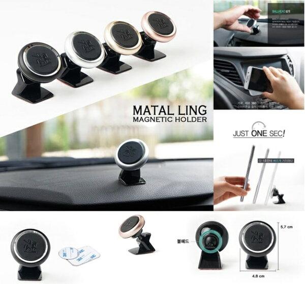 權世界@汽車用品韓國Autoban儀錶板黏貼座式磁鐵吸附360度迴轉智慧型手機架AW-D792-四色選擇