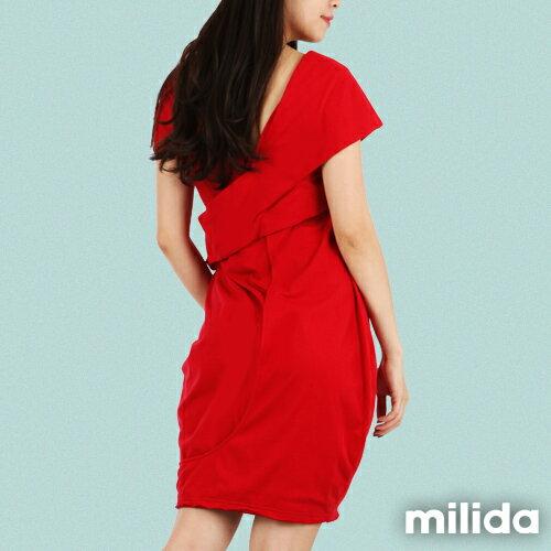 【Milida,全店七折免運】-春夏商品-造型款-甜美花苞洋裝 6
