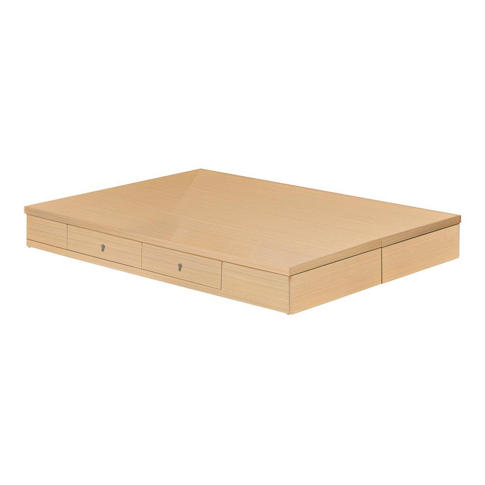 方型白橡色雙人5尺抽屜式床底(四抽)/H&D東稻家居