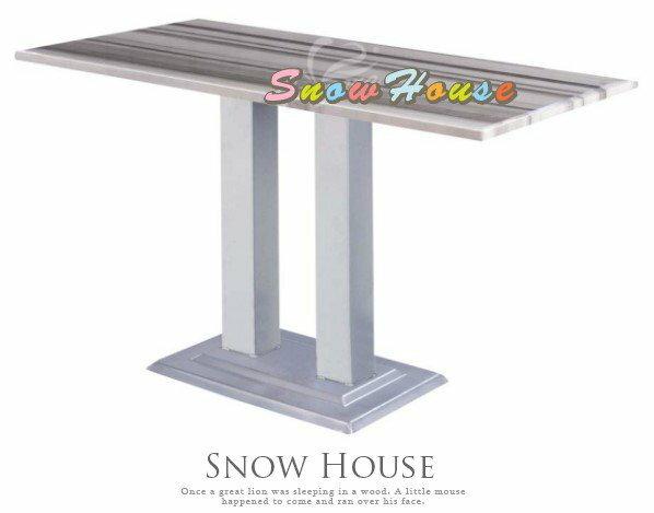 ╭☆雪之屋居家生活館☆╯1017-07/09 718 2公分厚烤銀腳石面餐桌/飯桌