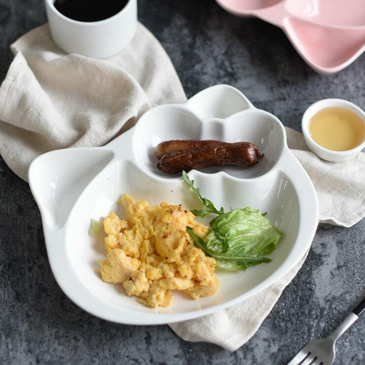 |現貨|甜蜜糖果色造型陶瓷分隔餐盤 4色 陶瓷餐盤 兒童餐盤 2