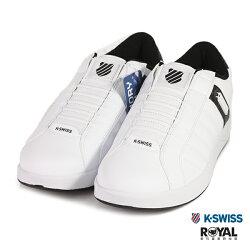 K-SWISS 新竹皇家 LUNDAHL 白色 皮質 套入式 休閒鞋 男款 NO.B0212