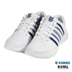 K-swiss 新竹皇家 Proactive 白色 皮質 藍線條 休閒鞋 男款 NO.B0399