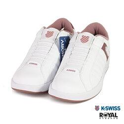 K-SWISS 新竹皇家 LUNDAHL 白色 皮質 套入式 休閒鞋 女款 NO.I9246