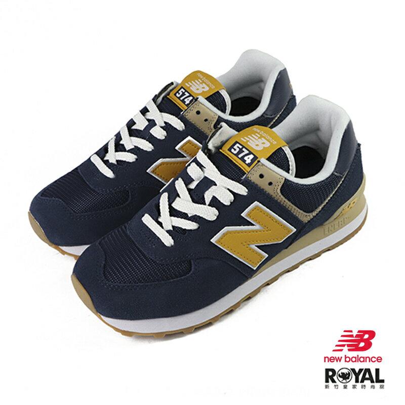 New balance 574 藍色 麂皮 休閒運動鞋 男女款.NO.B1054【新竹皇家 ML574SPF】