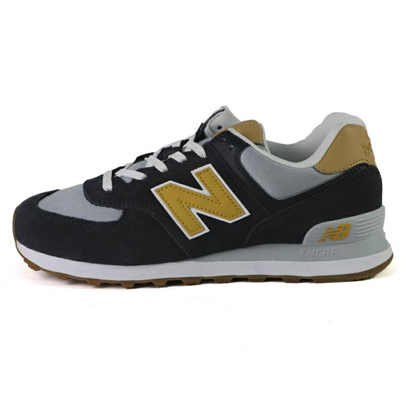 New Balance 574 海軍藍 透氣 舒適 休閒 運動鞋 男款 NO.B2037【新竹皇家 ML574NA2D】
