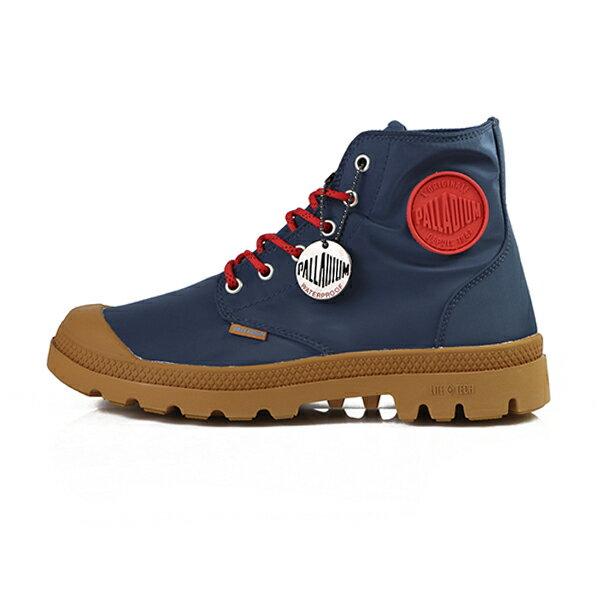 Palladium Pampa 藍色 雨傘布 防水 高統 軍靴 男女款 NO.B0546【新竹皇家】