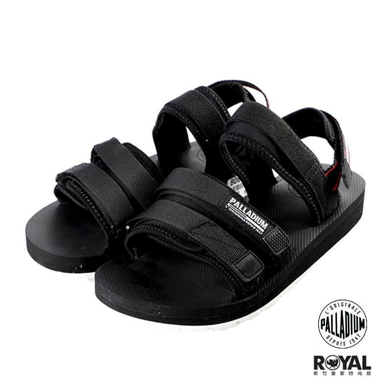 Palladium Outdoorst 黑色 織布 魔鬼氈 橡膠底 涼拖鞋 男女款 NO.B0615【新竹皇家】