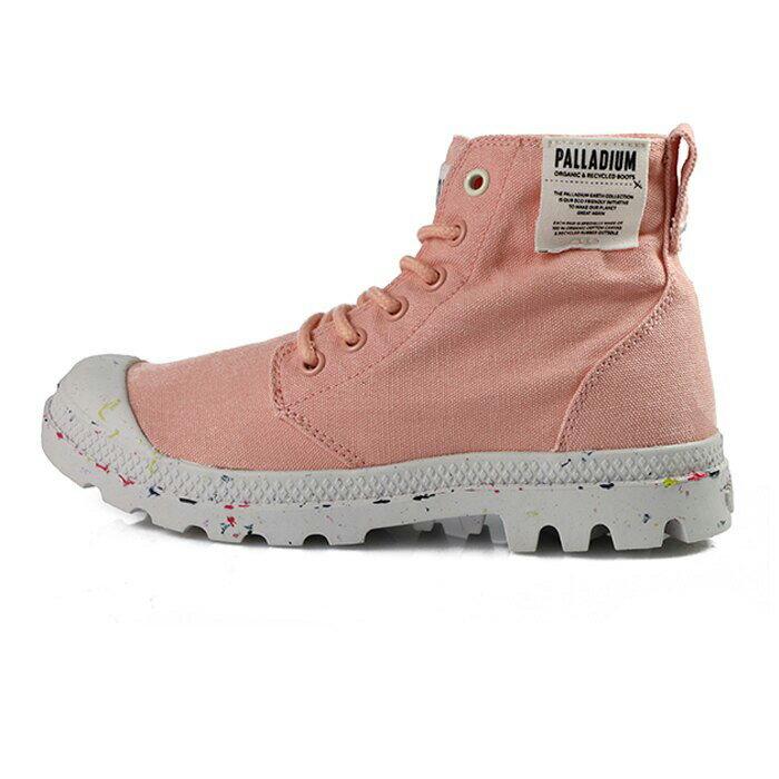 Palladium Pampa 粉橘色 帆布 軟木鞋墊 高統 軍靴 女款 NO.I9654【新竹皇家】