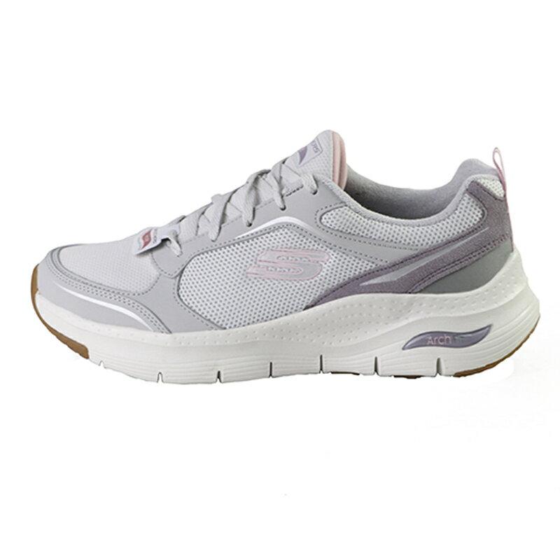 Skechers Arch Fit 灰紫色 網布 休閒運動鞋 女款NO.J0698【新竹皇家 149413LGPR】