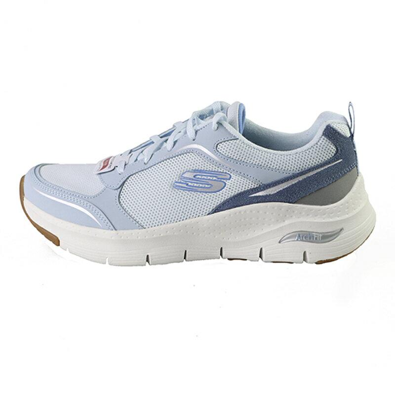 Skechers Arch Fit 天藍色 網布 休閒運動鞋 女款NO.J0699【新竹皇家 149413LTBL】