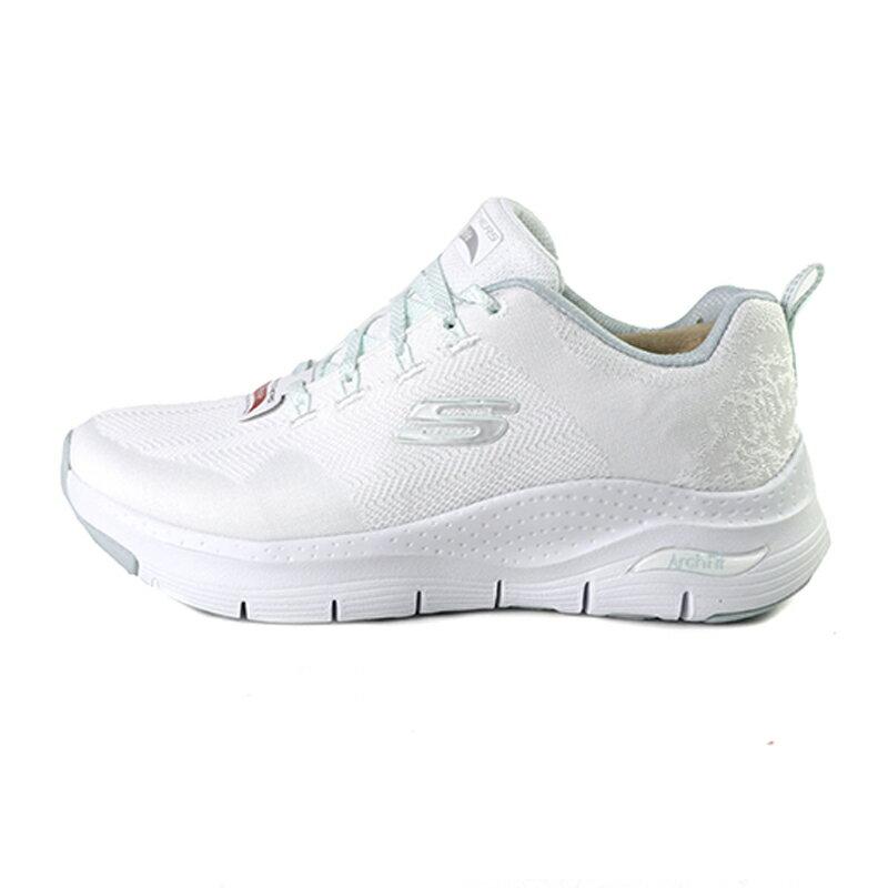 Skechers Arch Fit 白色 網布 運動休閒鞋 女款NO.J0732【新竹皇家 149414W-MNT】