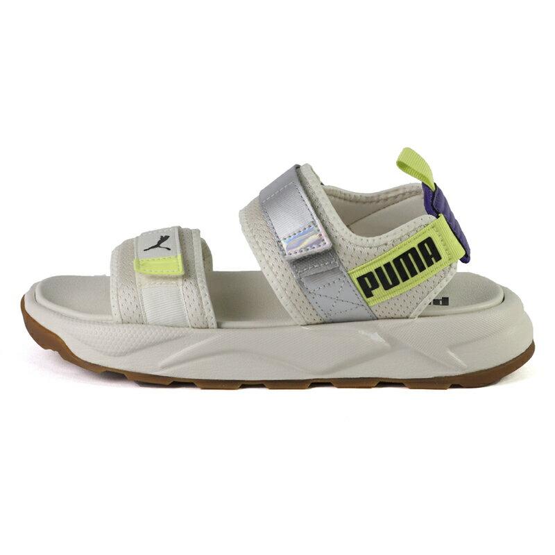 Puma RS-Sandal Iri 螢光 白黃紫 厚底 涼鞋 女款 NO.J0818【新竹皇家 36876301】