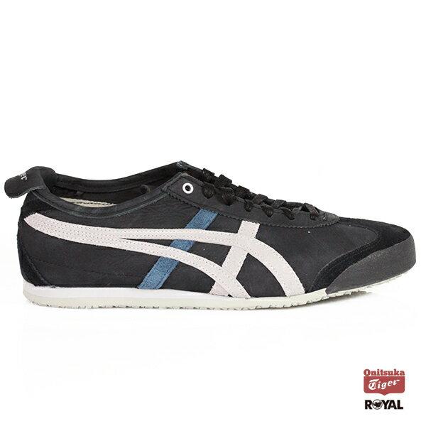 AsicsOnitsukaTiger新竹皇家Mexico66黑色合成皮運動鞋男款NO.A9668