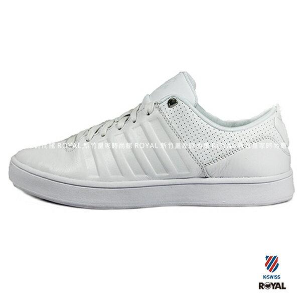 K-SWISS 新竹皇家 COURT WESTAN 白 皮革 休閒鞋 男款 NO.A8695 1