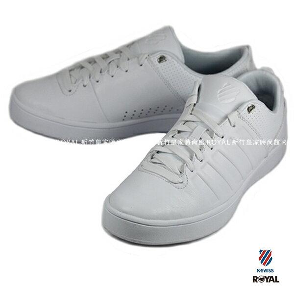 K-SWISS 新竹皇家 COURT WESTAN 白 皮革 休閒鞋 男款 NO.A8695 0