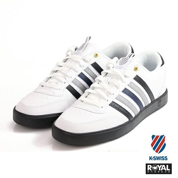 K-SWISS 新竹皇家 Court Lite 白色 記憶鞋墊 漸層 皮革 休閒鞋 男款 NO.A9351