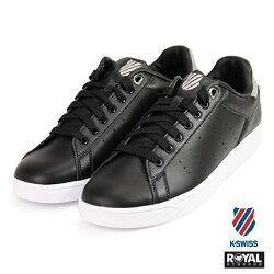 K-SWISS 新竹皇家 Clean Court 黑色/灰 記憶鞋墊 皮革 休閒鞋 男款 NO.A9441