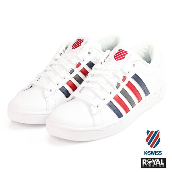 K-SWISS新竹皇家HokeCMF白紅色皮質休閒鞋男款NO.A9744