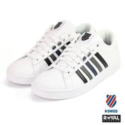 K-SWISS 新竹皇家 Hoke CMF 白/灰黑色 皮質 休閒鞋 男款 NO.A9798