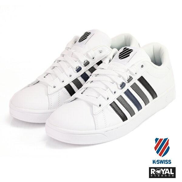K-SWISS新竹皇家HokeCMF白灰黑色皮質休閒鞋男款NO.A9798