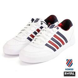 K-SWISS 新竹皇家 Court Lift 白色 皮質 內裡格紋 休閒鞋 男女款 NO.A9922-I8993