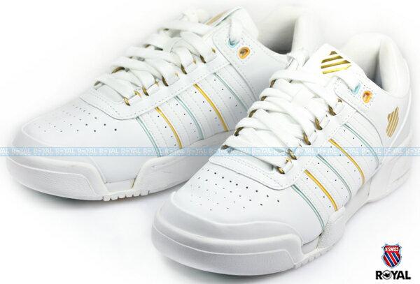 K-SWISS 新竹皇家 GSTAAD 白色 皮質 休閒鞋 女款 NO.I6344