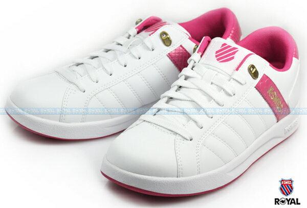 K-SWISS 新竹皇家 LUNDAHL WT S 白粉 皮質 休閒鞋 女款 NO.I6571