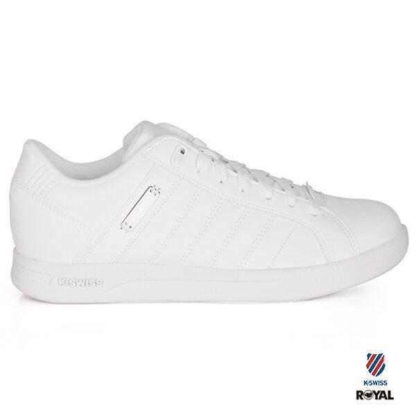 K-SWISS新竹皇家LUNDAHL經典白皮革休閒鞋女款NO.I8321