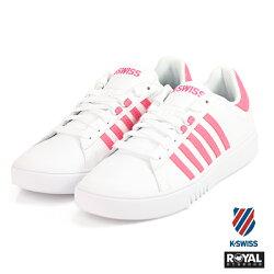K-SWISS 新竹皇家 Pershing Court 白/粉色 皮質 休閒鞋 女款 NO.I8433